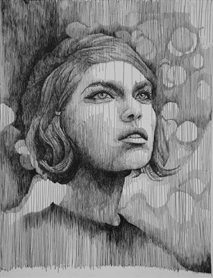 Beauty by Frank Papandrea, Drawing, Pen on Paper