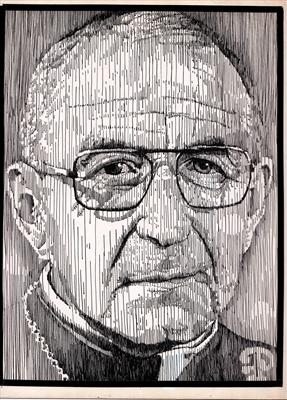 JohnPaul1 by Frank Papandrea, Drawing, Pen on Paper