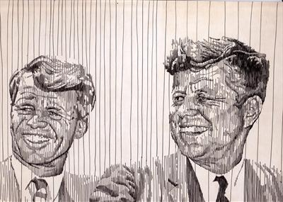 Kennedys by Frank Papandrea, Drawing, Pen on Paper