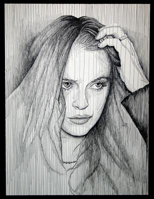 Lindsey by Frank Papandrea, Drawing, Pen on Paper