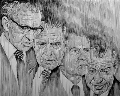Nixon by Frank Papandrea, Drawing, Pen on Paper