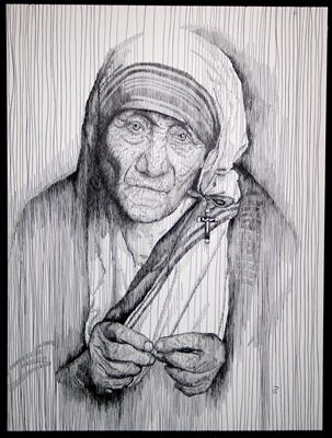 Teresa by Frank Papandrea, Drawing, Pen on Paper